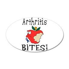 Arthritis Bites 20x12 Oval Wall Decal