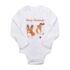 Corgi Christmas - Baby Long Sleeve Bodysuit