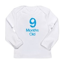 9 Months Old Baby Milestone Long Sleeve T-Shirt
