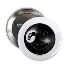 "8-ball Smiley 2.25"" Button (10 pack)"