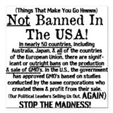 "Not Banned In The USA! Square Car Magnet 3"" x 3"""