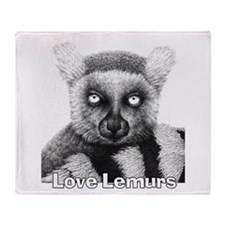 Love Lemurs Throw Blanket