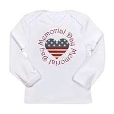 Memorial Day Heart Long Sleeve Infant T-Shirt