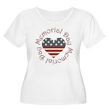 Memorial Day Heart T-Shirt