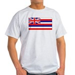 Hawaii Hawaiian Blank Flag Ash Grey T-Shirt