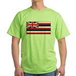 Hawaii Hawaiian Blank Flag Green T-Shirt