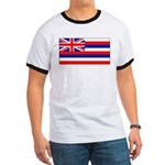 Hawaii Hawaiian Blank Flag Ringer T