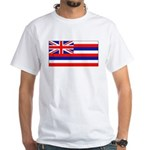 Hawaii Hawaiian Flag White TShirt