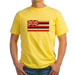 Hawaii Hawaiian Blank Flag Yellow T-Shirt