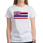 Hawaii Hawaiian Blank Flag Women's T-Shirt