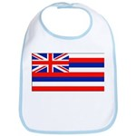 Hawaii Hawaiian Blank Flag Bib