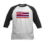 Hawaii Hawaiian Blank Flag Kids Baseball Jersey