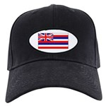Hawaii Hawaiian Blank Flag Black Cap