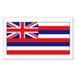 Hawaii Hawaiian Blank Flag Rectangle Sticker