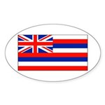 Hawaii Hawaiian Blank Flag Oval Sticker