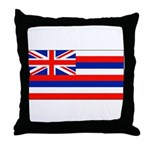 Hawaii Hawaiian Blank Flag Throw Pillow