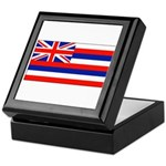 Hawaii Hawaiian Blank Flag Keepsake Box