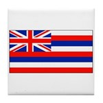 Hawaii Hawaiian Blank Flag Tile Coaster