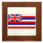 Hawaii Hawaiian Blank Flag Framed Tile
