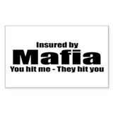 Mafia Insurance Rectangle Decal