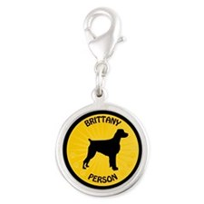 Brittany Person Silver Round Charm