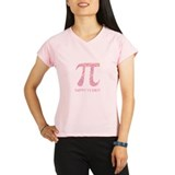 Pink Swirly Pi Peformance Dry T-Shirt
