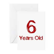6 Years Old Greeting Cards (Pk of 10)