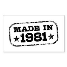 Made In 1981 Decal