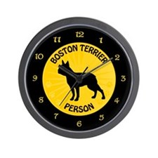 Boston Person Wall Clock