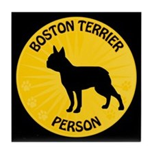 Boston Person Tile Coaster