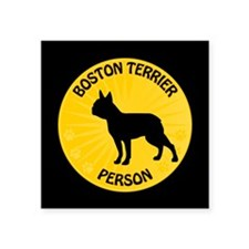 "Boston Person Square Sticker 3"" x 3"""
