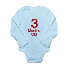 3 Months Old Baby Milestones Body Suit