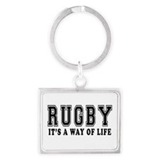 Rugby It's A Way Of Life Landscape Keychain
