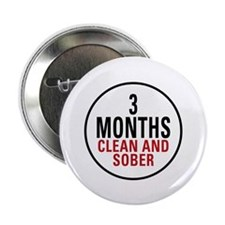 "3 Months Clean & Sober 2.25"" Button (10 pack)"