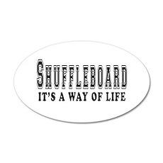 Shuffleboard It's A Way Of Life 35x21 Oval Wall De