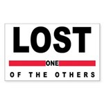LOST Rectangle Sticker