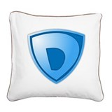 Super D Super Hero Design Square Canvas Pillow