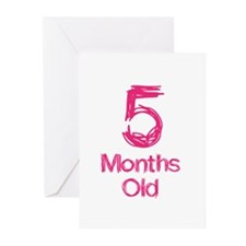 5 Months Old Baby Milestones Greeting Cards (Pk of