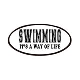 Swimming It's A Way Of Life Patches