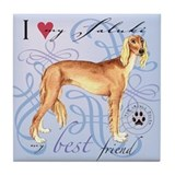 Saluki Tile Coaster
