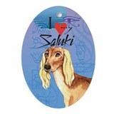 Saluki Oval Ornament