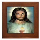 Sacred Heart Framed Tile