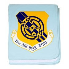 15th Air Base Wing baby blanket