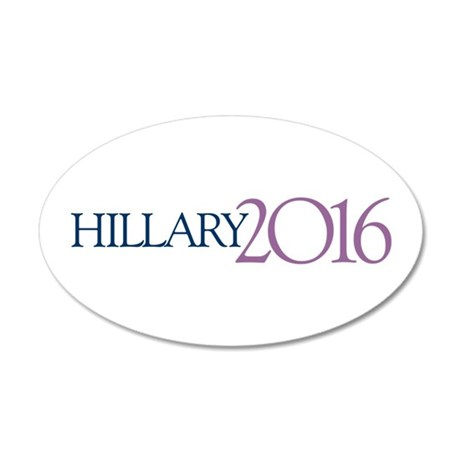 Hillary 2016 35x21 Oval Wall Decal