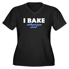 I Bake what's your super powe Women's Plus Size V-