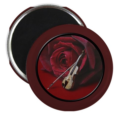 Rose and Violin Magnet