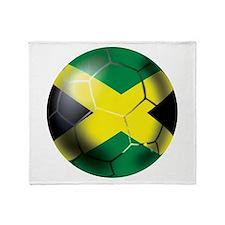 Jamaican Soccer Ball Throw Blanket