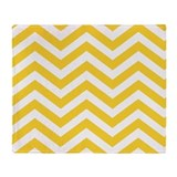 Chevron yellow Throw Blanket