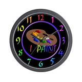 Artists Pallette Wall Clock
