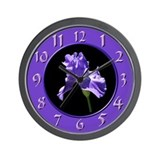 Purple Iris Wall Clock